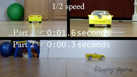 Toy Car UAM Problem with Two Difference Accelerations