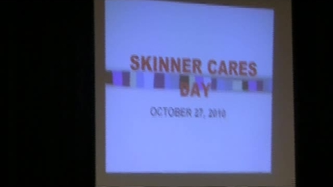 Thumbnail for entry Service Learning at Skinner
