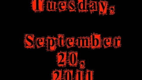 Thumbnail for entry Tuesday, September 20, 2011
