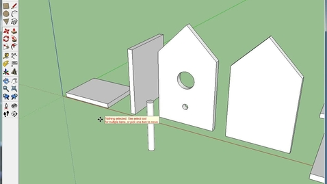 Thumbnail for entry Birdhouse Part 3 on SketchUp