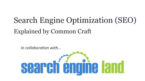 Thumbnail for entry Search Engine Optimization