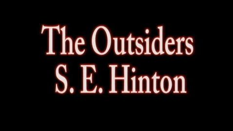 Thumbnail for entry The Outsiders BookTalk