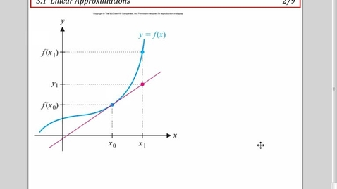 Thumbnail for entry 3.1 Linear Approximations