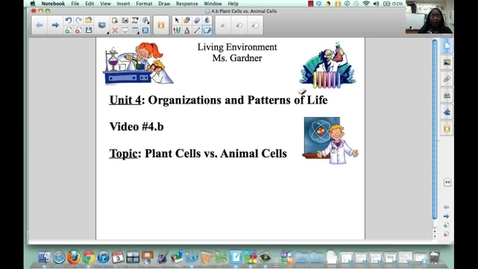 Thumbnail for entry 4.b Plant Cells vs. Animal Cells
