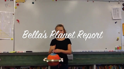 Thumbnail for entry Bella's Planet Report