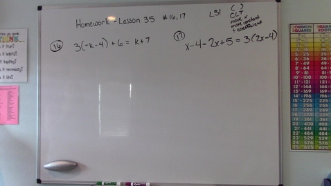 Thumbnail for entry Saxon Algebra 1 - Lesson 35 Homework Questions (Review of Lesson 31)