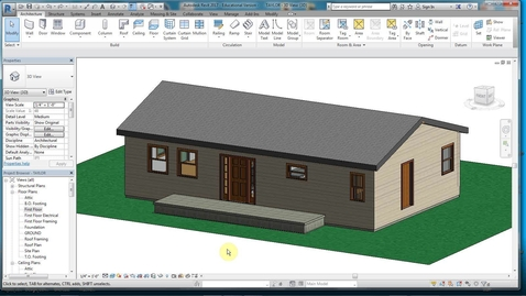 Thumbnail for entry REVIT 12-PORCH ROOF & POSTS