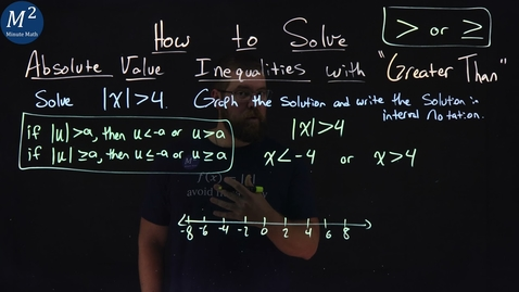 """Thumbnail for entry How to Solve Absolute Value Inequalities with """"Greater Than"""" 