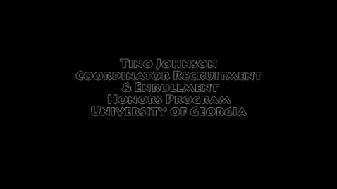 Thumbnail for entry UGA Honor Program Presentation