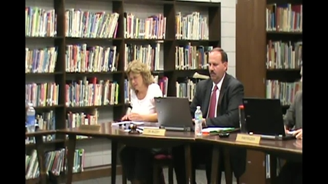 Thumbnail for entry School Board Meeting 8/9/12