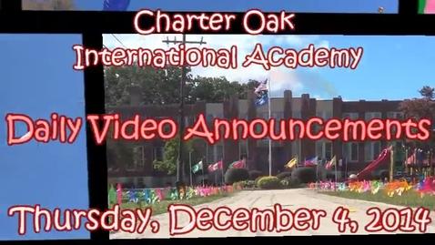 Thumbnail for entry December 4, 2014 Kiara, Sama, Nathan, Rafael