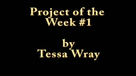Thumbnail for entry Project of the Week 10/21/11