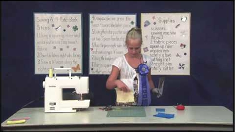 Thumbnail for entry 4-H  Sewing Demonstration part 1