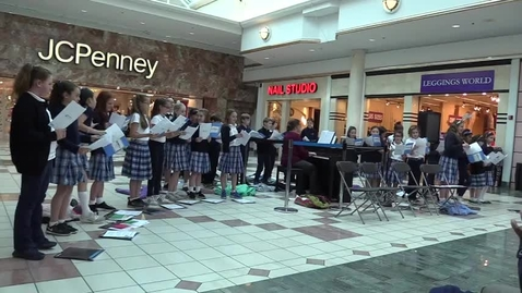 Thumbnail for entry St. Louis School Glee Club at Eastview Mall - 2 Favorites 12-6-17