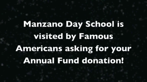 Thumbnail for entry Famous Americans ask for your Annual Fund donations!