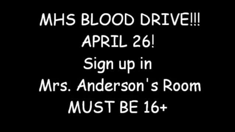 Thumbnail for entry MHS Blood Drive 2013