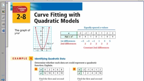 Thumbnail for entry 2-8 quadratic regression