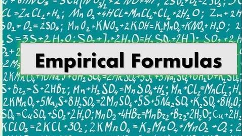 Thumbnail for entry Empirical Formulas