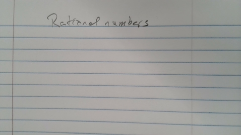 Thumbnail for entry Rational Numbers Foundations
