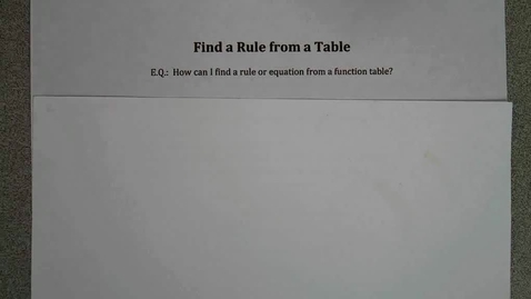 Thumbnail for entry Find a Rule from a Table