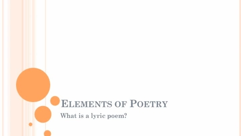 Thumbnail for entry Poetry Overview