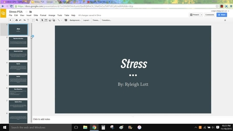 Thumbnail for entry Stress PSA 1st hour
