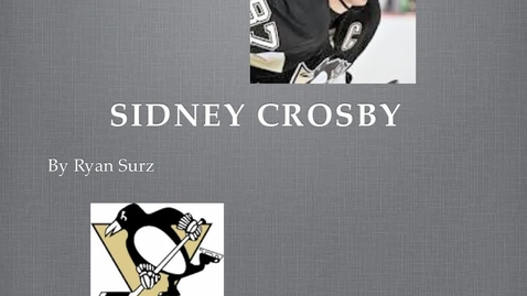 Thumbnail for entry Sydney Crosby