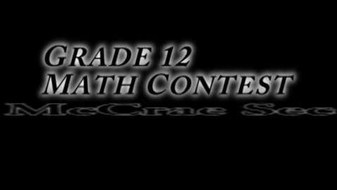 Thumbnail for entry McNews Assignment Math Contest
