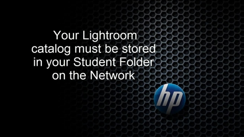 Thumbnail for entry Backing up Lightroom on the network