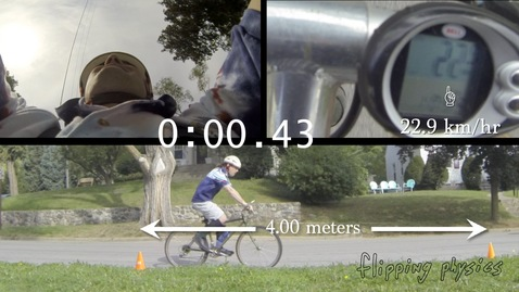 Introductory Uniformly Accelerated Motion Problem – A Braking Bicycle