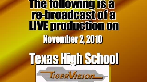 Thumbnail for entry TigerVision LIVE Announcements 11-02-10