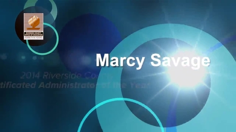 Thumbnail for entry Celebrating Educators 2014:  Marcy Savage