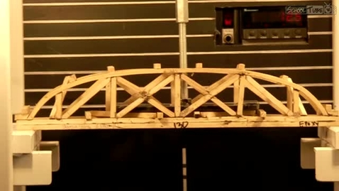 Thumbnail for entry Truss Style Bridge Failure Test