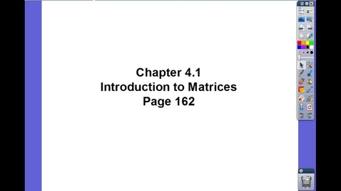 Thumbnail for entry Algebra II Ch 4.1
