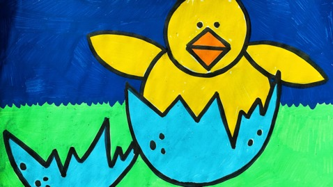 Thumbnail for entry Mrs. Griffin's K4 Baby Chick Art Project