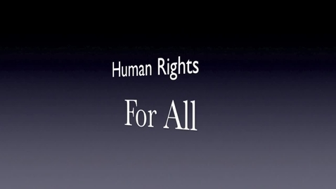 Thumbnail for entry Human Rights Class