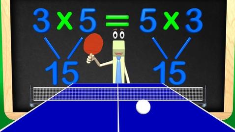 Thumbnail for entry Multiplication Math Ping Pong - Commutative Property Math Videos