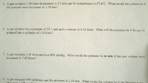 Thumbnail for entry Gas Laws Part I