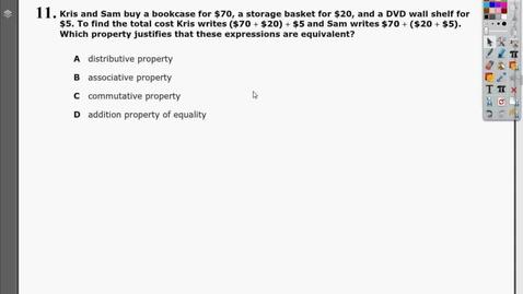 Thumbnail for entry TN Algebra 1 EOC - Practice Test 2 - Question 11