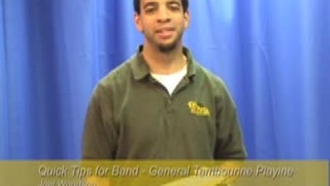 Thumbnail for entry Quick Tips for Band -General Tambourine Playing