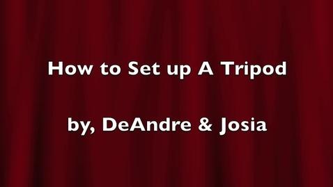 Thumbnail for entry Tripod Tutorial