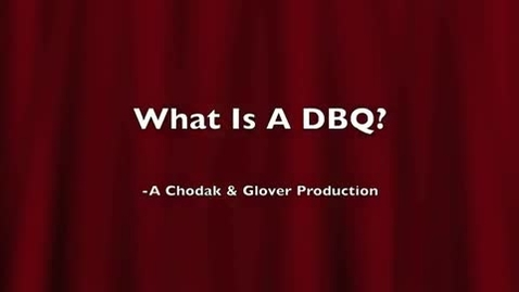 Thumbnail for entry How to write a DBQ