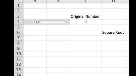 Thumbnail for entry How to use SQRT in Excel