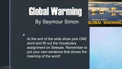Thumbnail for entry Global warming Vocab