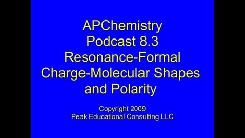 Thumbnail for entry AP Chem 8.3 Resonance - Molecular Shape