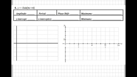 Thumbnail for entry Graphing Sine and Cosine Packet 6