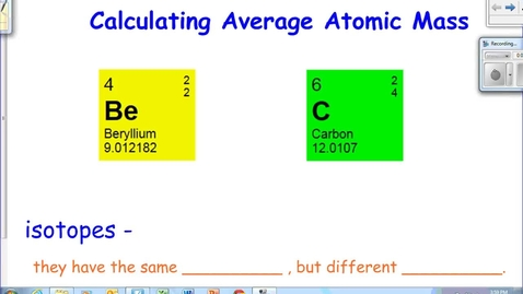 Thumbnail for entry Average Atomic Mass Calculations