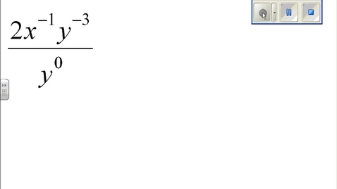 Thumbnail for entry Properties of Exponents example 12