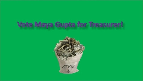 Thumbnail for entry Treasurer Maya Gupta