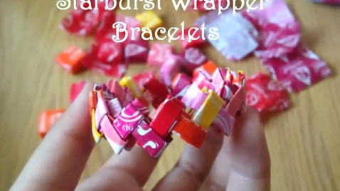 Thumbnail for entry DIY Project: How to Make Starburst Wrapper Bracelets